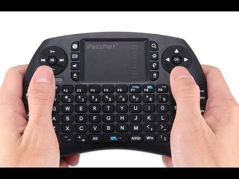 iPazzPort KP21BT Bluetooth Wireless Touchpad Keyboard For PC Android TV Box - Test