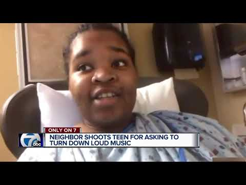Detroit honor student shot after asking neighbor to turn down music remains hospitalized