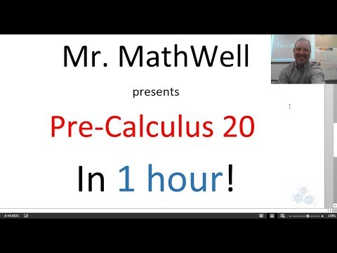 PC 20 Final REVIEW - Pre-Calculus 20 - whole course in an hour ...