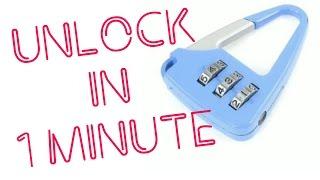 How to Open any Number Lock in 1 Min | Full tutorial Unlock | Life Hacks | KesPra ✔