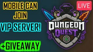 dungeon quest giveaway live - TH-Clip