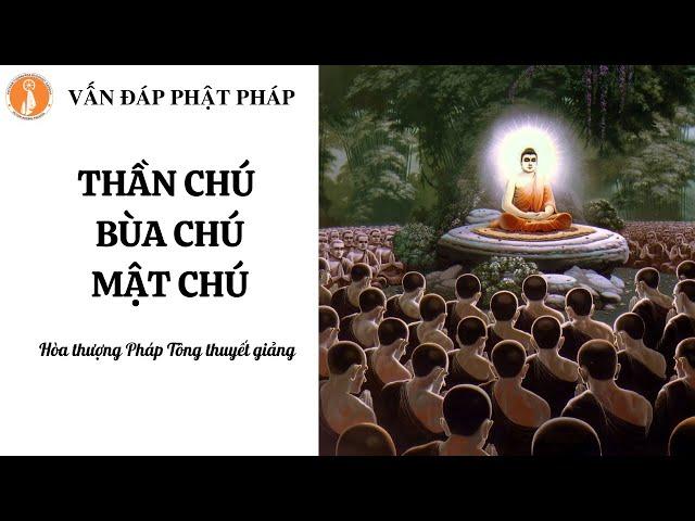 [Vấn đáp Phật pháp] Thần chú, Mật chú và Bùa chú – Hòa thượng Pháp Tông