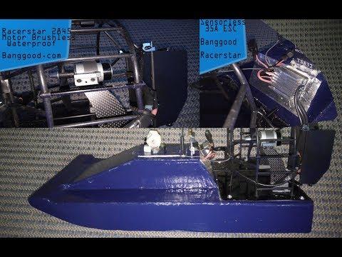 2845 Motor + 35A ESC  Banggood  for SWAMP BOAT Prototype
