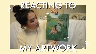 Reacting To My High School Art Portfolio !!