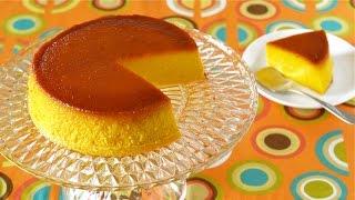 Kabocha Purin Cake for Halloween (Pumpkin Pudding) ハロウィンにかぼちゃプリンケーキ - OCHIKERON - CREATE EAT HAPPY