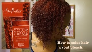 How To Color Hair Red Without Bleach| Shea Moisture Bright Auburn.