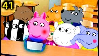 Свинка Пеппа новые серии  Пеппа пришла в школу с новым телефоном 41 серия