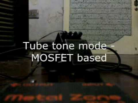 BOSS MetalZone II Overkill Mod w/ 6 modes of distortion on HIGH gain settings