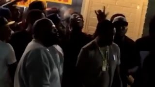 Meek Mill & Rick Ross Run For Cover As Gunshots Ring Out At Gucci Mane & 2 Chainz Video Shoot