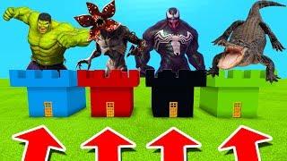 Minecraft PE : DO NOT CHOOSE THE WRONG CASTLE! (Demogorgon, Alligator, Venom & Hulk)