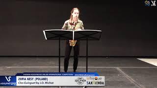 Zofia KESY plays Clos Guinguet by J.D.Michat #adolphesax