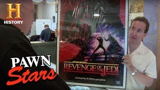 Pawn Stars: Recalled Star Wars: Revenge Of The Jedi Poster | History