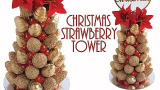 how to make a chocolate covered strawberry christmas tree