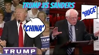 BERNIE SANDERS 'HUGE' vs DONALD TRUMP 'CHINA' Mashup Compilation