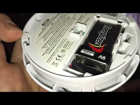 Rauchwarnmelder ABUS RM10 51024 Batterie tauschen Rauchmelder 9V Block wechsel Brandmelder Anleitung
