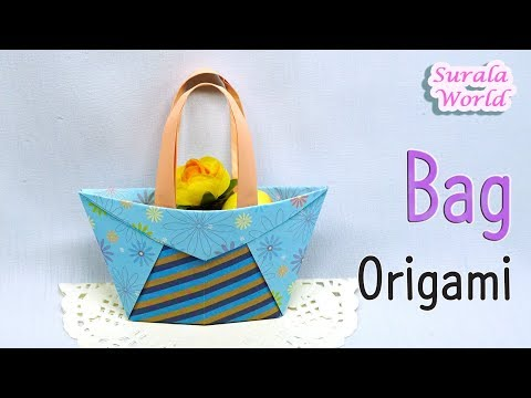 Origami - Bag, Shopper Bag (How to make a paper bag)