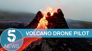 Bjorn Steinbekk interview: Photographer who flew a drone into Icelandic volcano | 5 News