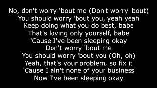 Zara Larsson   Don't Worry Bout Me [LYRICS]