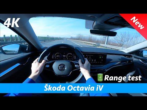 Škoda Octavia iV 2021 - POV Test drive & review in 4K | Battery range test - Better than expected!