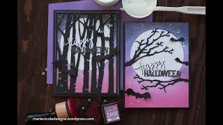 Using Simple Blends To Build A Background + Halloween Card