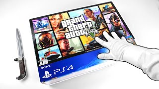 """PS4 """"GRAND THEFT AUTO V"""" UNBOXING! Sony PlayStation 4 GTA 5 Console"""
