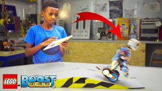 THE RAMP CHALLENGE! Learn How to Code LEGO BOOST Robot Instructions with Callum Coding Tips & Tricks