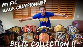 MY FULL WWE CHAMPIONSHIP TITLE BELTS COLLECTION!!