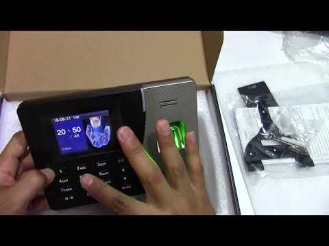 configuración Biometrico ZK  K14 o similares