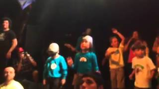 Rocco on stage with The Aquabats