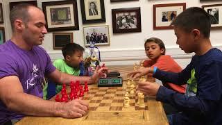 USCS Bullet Showdown: Kids play IM Greg Shahade for Chocolate!