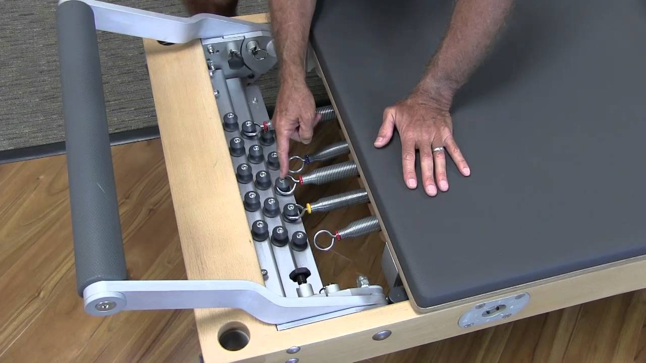In this video, Rael discusses the spring settings on the newly designed Reformer.