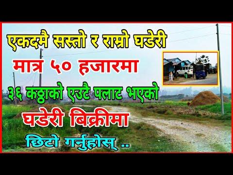 मात्र ५० हजारमा   अहिले सम्मकै सस्तो र राम्रो घडेरी    Dang Deukhuri  Sasto Ghar Jagaa   Hamro Bazar