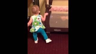 Addison dancing to Blake Shelton