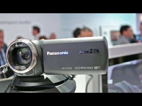 CES 2014 | Panasonic HC-V550 Full HD Camcorder | WiFi & NFC | HC-V550K | SmartReview.com