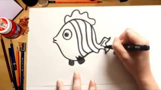 Como desenhar um peixe - desenhos para crianças