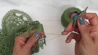 Tatting - SCMRs - The Green Doily