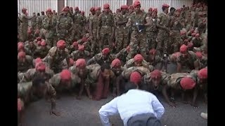 Ethiopia PM defuses soldiers' standoff with press-ups - VIDEO