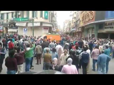 من مقر انفجار محيط الكنيسة االمرقسية بالإسكندرية..بالفيديو
