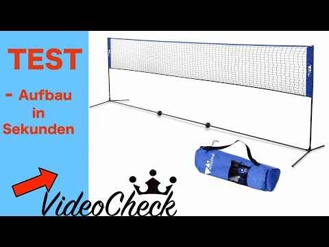 GENIALES BADMINTON / FEDERBALL NETZ  ( SEKUNDEN AUFBAUZEIT )