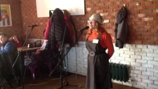 Ольга Кирсанова, фрагмент выступления на мартовском слэме 2014