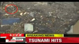 Ovnis en el Tsunami de japon.