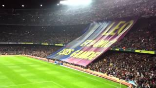 preview picture of video 'Messi tribute Camp Nou 31.March 2012'