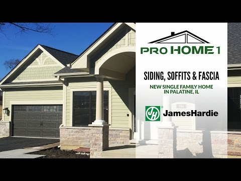Check out our video of siding job in Palatine IL.  For this single family home we used super durable James Hardie fiber cement siding.  All Soffits and fascia were also by James Hardie.