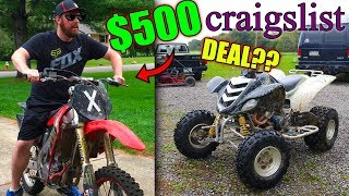 WE STOLE THIS CR125 FOR $500 !!!