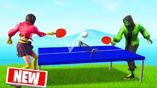 *NEW* TABLE TENNIS GAME MODE In FORTNITE! (Creative Mode)