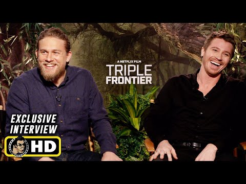 Garrett Hedlund and Charlie Hunnam Interview for Triple Frontier