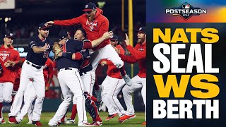 OFF TO THE WORLD SERIES! Victor Robles catches final out to send Nationals to WS | MLB Highlights