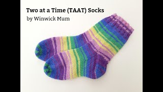 How to knit Two at a Time (TAAT) socks