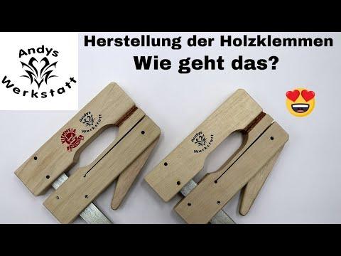Wie geht das? Herstellung der Holzklemme / Zwinge von Klemmsia