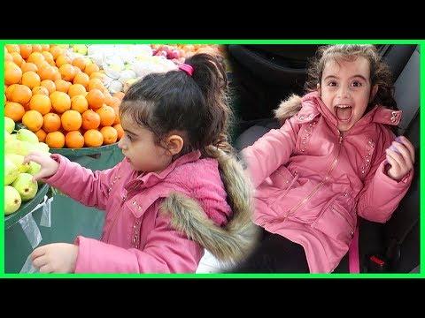 Rüya ile Market Alışverişi Yaptık  Abur Cubur  Meyve ve Sebze Aldık l Çocuk Videosu.